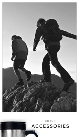 Picture of students hiking. Click to shop Gifts and Accessories.