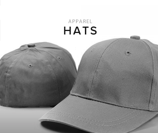 Apparel. Click to shop hats.