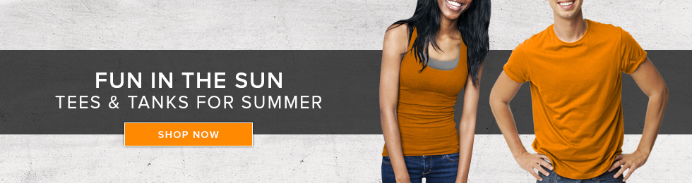 Picture of students. Fun in the Sun. Tees and tanks for summer. Click to shop now.